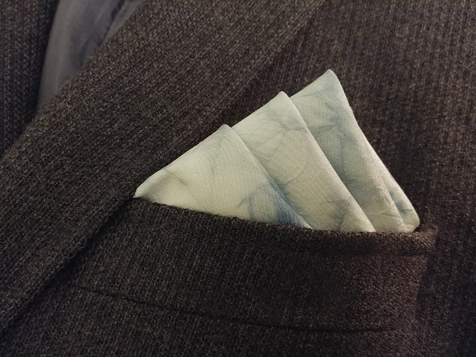Natural dyed pocket square