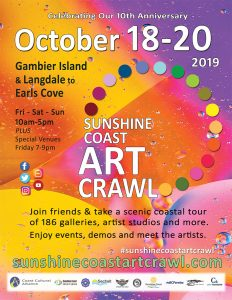 Sunshine Coast Art Crawl poster