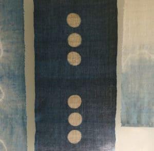 6 Moons natural dyed wall hanging