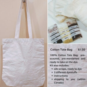 Cotton tote bag natural dye kit