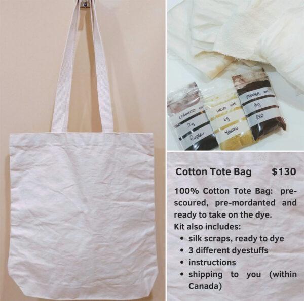 Cotton tote bag natural dye kit