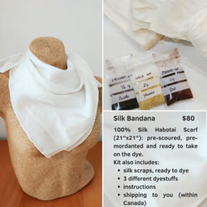 Silk bandana natural dyes kit